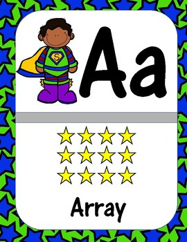 Third Grade Math Theme Alphabet (Super Hero)