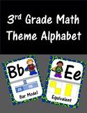 Third Grade Math Theme Alphabet (Super Hero)