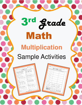 Third Grade Math Understanding Multiplication Sample Activities
