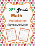 Third Grade Math Understanding Multiplication Sample Activities