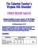 Third Grade Math VA SOL Checklist