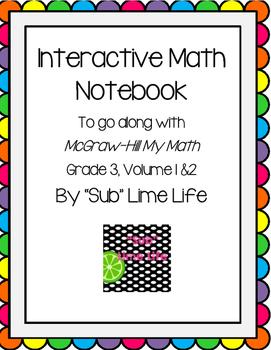 Third Grade Math Vocab Interactive Notebook