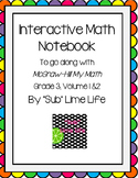 Third Grade Math Vocab Interactive Notebook
