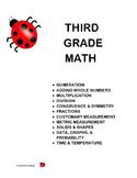 Third Grade Math Vocab Puzzles