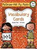 Third-Grade Math Vocabulary - BUNDLE {My Math Series - ALL Units}{CCSS aligned}