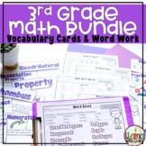 Third Grade Math Vocabulary Activities Bundle