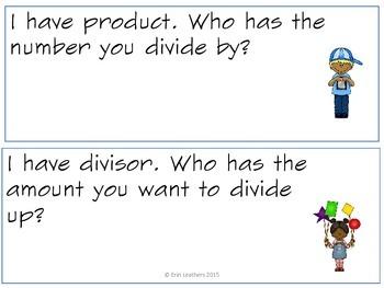 Third Grade Math Vocabulary- I Have... Who Has? Game