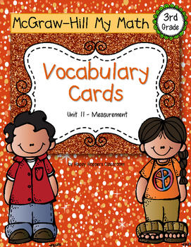 Third-Grade Math Vocabulary {My Math Series - Unit 11}{CCSS aligned}