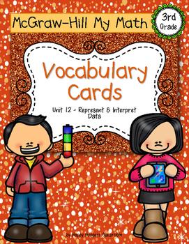 Third-Grade Math Vocabulary {My Math Series - Unit 12}{CCS