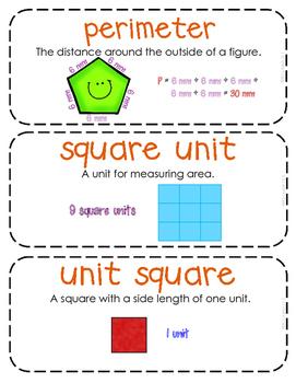 Third-Grade Math Vocabulary {My Math Series - Unit 13 & 14}{CCSS aligned}