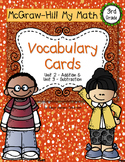 Third-Grade Math Vocabulary {My Math Series - Unit 2 & 3}{