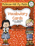 Third-Grade Math Vocabulary {My Math Series - Unit 4}{CCSS
