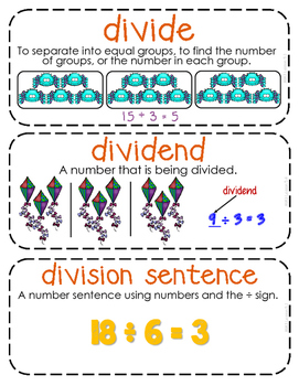 Third-Grade Math Vocabulary {My Math Series - Unit 5}{CCSS aligned}