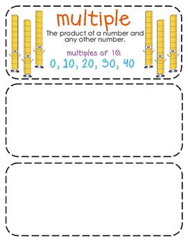 Third-Grade Math Vocabulary {My Math Series - Unit 6,7, & 9}{CCSS aligned}