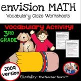 enVision Math 3rd Grade 2009 version Vocabulary CLOZE Worksheet Activities