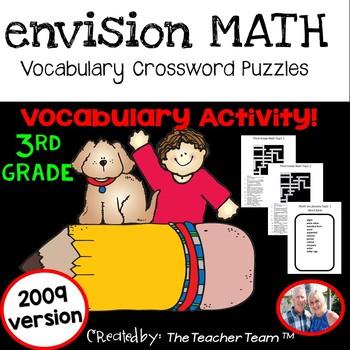 enVision Math Third Grade Vocabulary Crossword Puzzles Topics 1-20