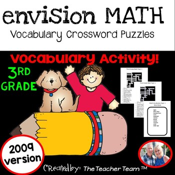 enVision Math 3rd Grade 2009 version Vocabulary Crossword Puzzles Topics 1-20