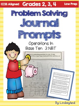 Problem Solving Journal Prompts 3.NBT