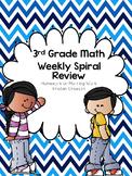 Third Grade Math Weekly Spiral Review