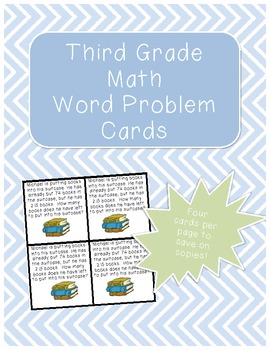 Third Grade Math Word Problem Cards