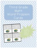 Third Grade Math Word Problem Cards