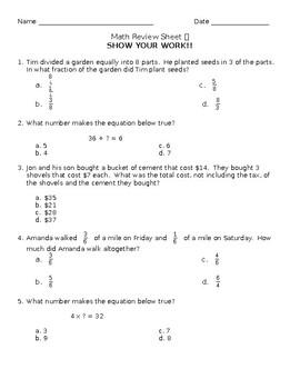 Third Grade Math Word Problems