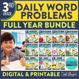 Third Grade Math Word Problems for the Whole School Year Bundle
