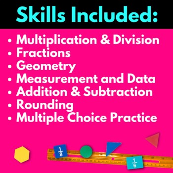 Third Grade Math Worksheets BUNDLE!