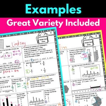 3rd Grade Math Worksheets BUNDLE!