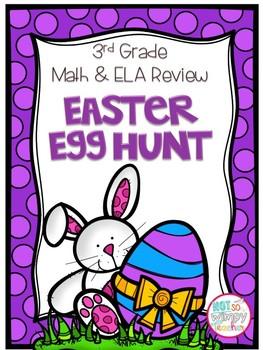 Third Grade Math and ELA Easter Egg Hunt