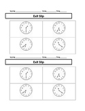 Third Grade Mathematics Time and Money Practice and Exit Slips