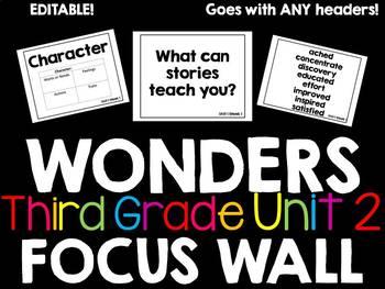 Wonders Focus Wall Third Grade Unit 2