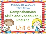Third Grade McGraw-Hill Wonders Comprehension and Vocabulary Posters-Unit 6