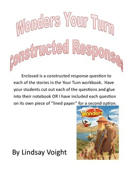Third Grade McGraw Hill- Wonders Constructed Response Questions