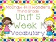 Third Grade McGraw-Hill Wonders Vocabulary Resources-Unit 5