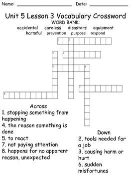 Third Grade McGraw Hill Wonders puzzles - unit 5