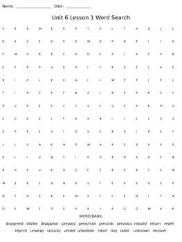 Third Grade McGraw Hill Wonders puzzles - unit 6