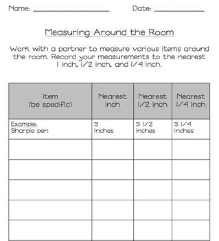"Third Grade Math ""Measure Around the Room"" Common Core Aligned Measuring"
