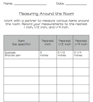 "Third Grade Math ""Measure Around the Room"" Common Core Ali"