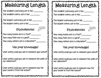 Third Grade Measurement Notebook