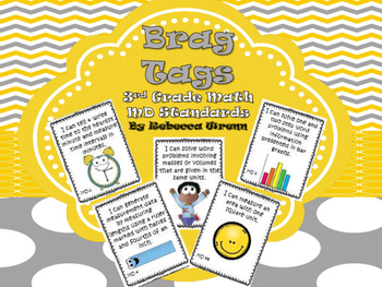 Third Grade Measurement and Data Standards Brag Tags