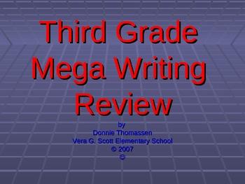 Third Grade Mega Writing Review