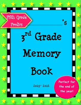 Third Grade Memory Book