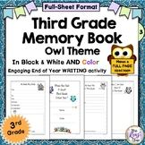 Third Grade End of Year Memory Book - 3rd Grade Memory Boo