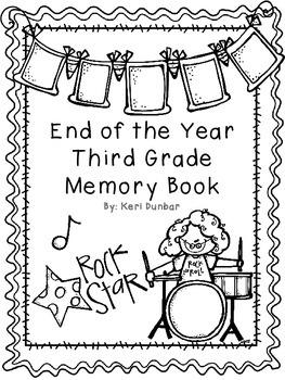 Third Grade Memory Book- Rockstar Theme