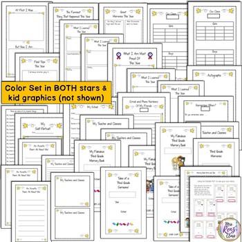 3rd Grade Memory Book - 1/2 page - Star & Super Kid Theme