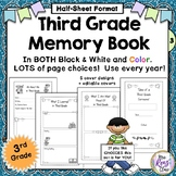 Third Grade Memory Book in Color and BW with Lots of Page Choices