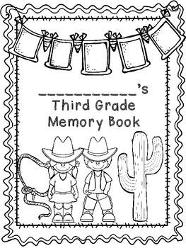 Third Grade Memory Book- Western Theme