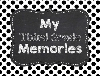 Memory Book 3rd Grade for End of the Year