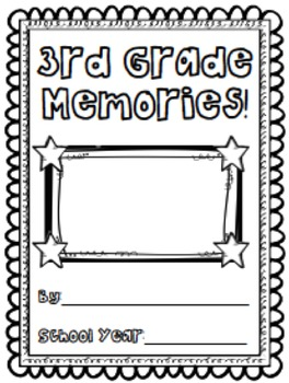 Third Grade Memory Book/End of Year